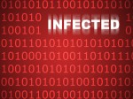 Infected Code Abstract Background