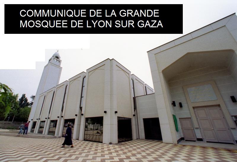 la grande mosqu e de lyon appelle condamner la terreur isra lienne gaza islam info. Black Bedroom Furniture Sets. Home Design Ideas