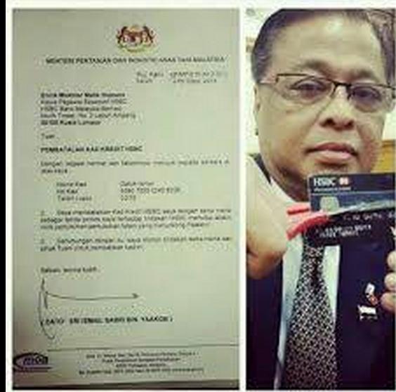 En réponse à la fermeture de plusieurs ONG islamiques, le ministre de l'agriculture de la Malaisie ferme son compte et coupe sa carte HSBC