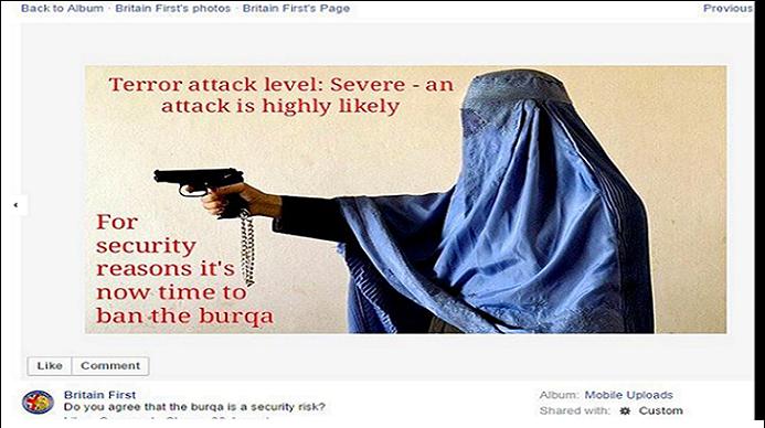 burqa extreme droite