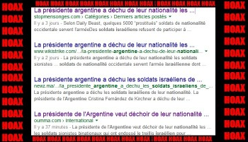 HOAX ARGENTINE NATIONALITE ISRAELIEN