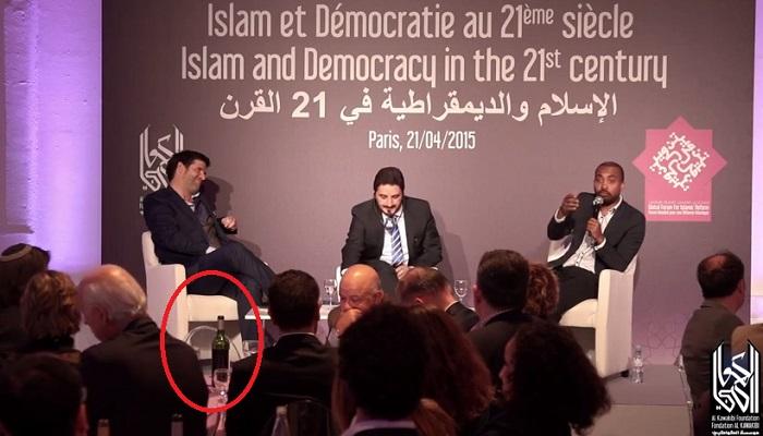 Islam et pinard (dîner de lancement de la réforme de l'islam de Bajrafil et Marquardt) Bajrafil-vin-21