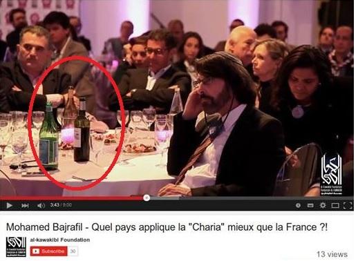 Islam et pinard (dîner de lancement de la réforme de l'islam de Bajrafil et Marquardt) Bajrafil-vin-22