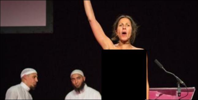 les femen s 39 attaquent aux musulmans du salon du val d 39 oise islam info. Black Bedroom Furniture Sets. Home Design Ideas