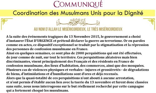 coordination des musulmans unis pour la dignité