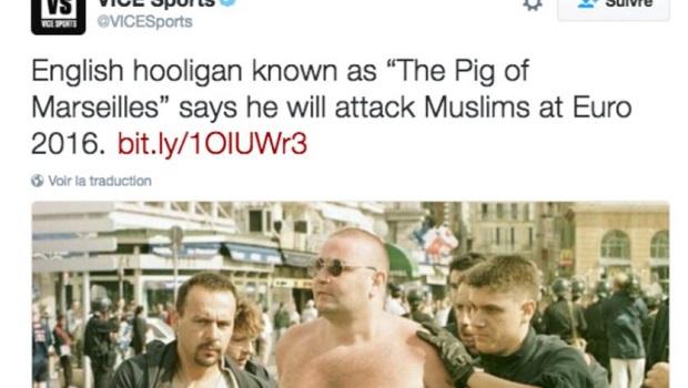 hooligan anglais euro 2016 islamophobie
