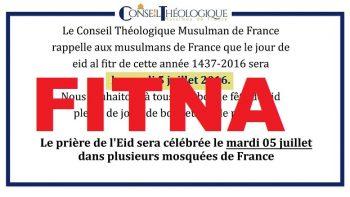 conseil théologique musulman de france aid al fitr 2016