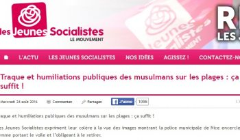 jeunes socialistes islamophobie burkini