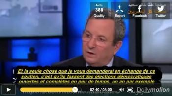 Ehud Barak démontre le soutien d'Israël à la junte militaire...