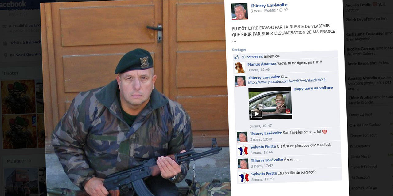Il pose sur fb avec une kalachnikov contre l 39 islamisation le nouveau fn mariniste islam info - Argument contre le port de l uniforme ...