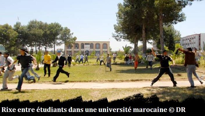 """Maroc : Rixe entre étudiants gauchistes et """"i..."""
