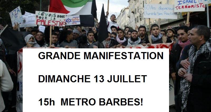 #GAZARESISTANCE Communiqué : Grande manifesta...