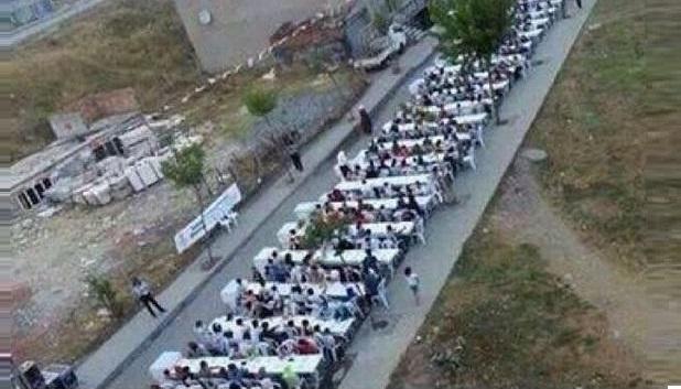 turquie une table de 6km pour le repas de l 39 iftar des