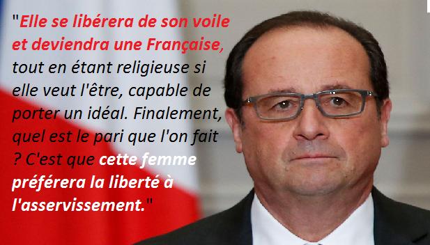 Hollande dévoile son islamophobie et sa haine...