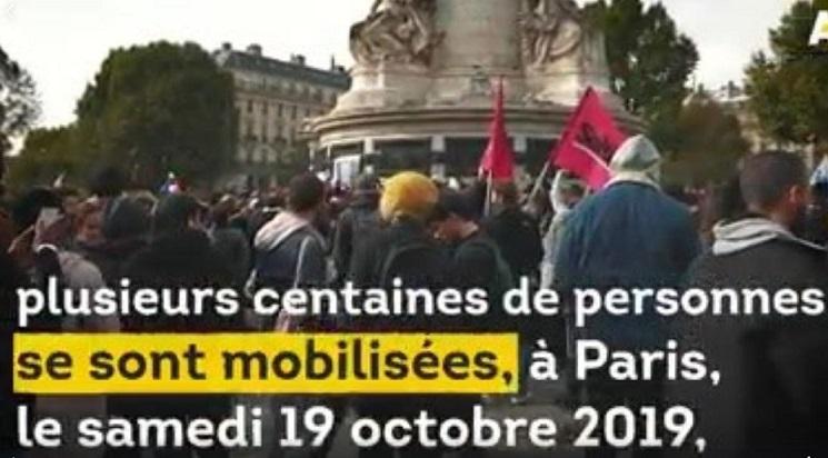 Manifestation : Solidarité envers les femmes voilées ( Paris le 19/10/19)
