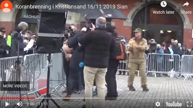 Norvège : Il brûle le Coran en place publique
