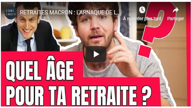 T'as 20-30 ans donc la retraite tu t'en fous !? | VIDEO