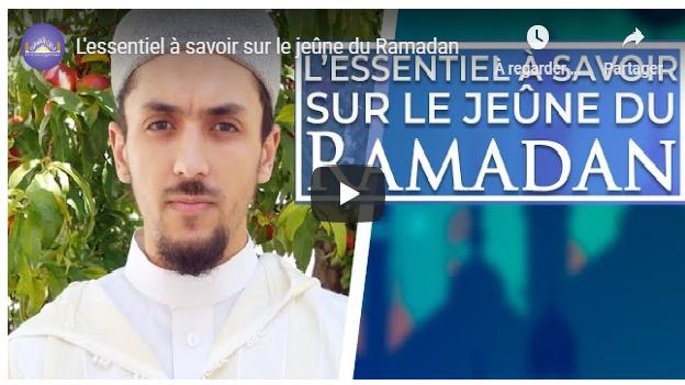 #RAMADAN L'essentiel à savoir sur le jeûne ! #Vidéo