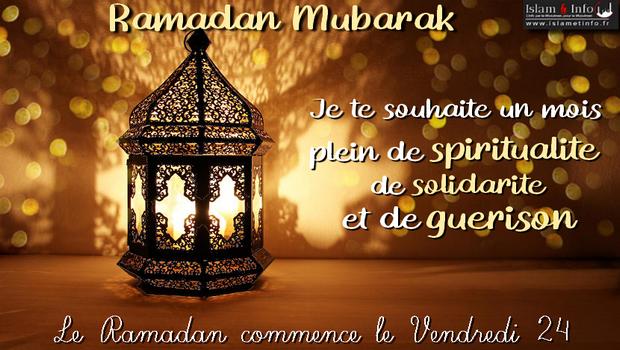 Le Ramadan commence demain ! Vendredi 24 Avril