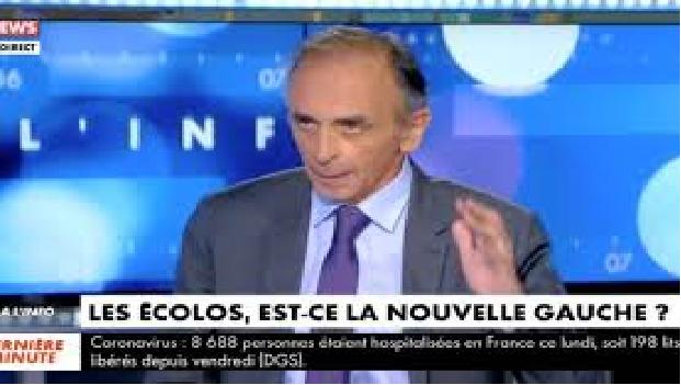 """ZEMMOUR : """"LE VERT DES VERTS CORRESPOND AU VERT DE L'ISLAM !"""" """"#VIDÉO"""