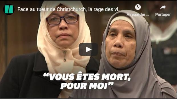 ATTENTAT DE CHRISTCHURCH : SURVIVANTS ET FAMILLES DES VICTIMES FACE AU TERRORISTE ! #VIDÉO