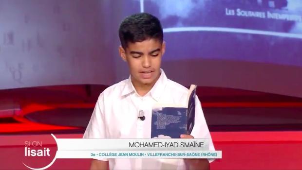 MOHAMED-IYAD COLLÉGIEN SACRÉ MEILLEUR LECTEUR DE FRANCE !