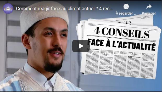COMMENT RÉAGIR FACE AU CLIMAT ACTUEL ? - DIN UL QAYYIMA