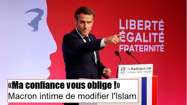 Ultimatum de Macron pour que les musulmans changent l'Islam !