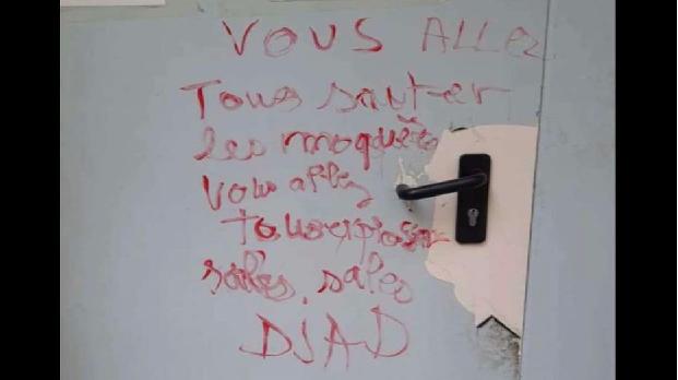 LA MOSQUÉE EL-SALAM VANDALISÉE PAR DES ISLAMOPHOBES !