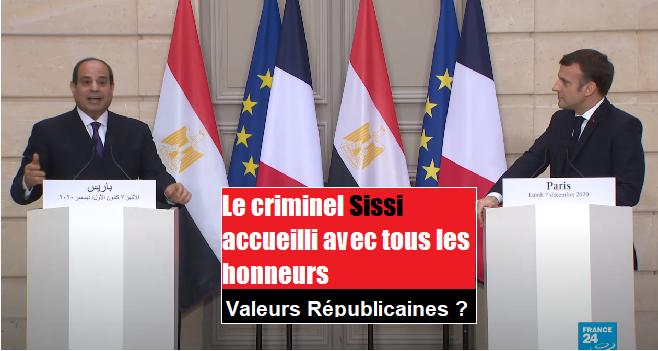 Sissi le criminel reçu avec les honneurs en France