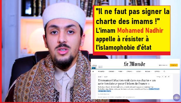 """""""Il ne faut pas signer la charte des imams !"""" L'imam Mohamed Nadhir appelle à la résistance"""