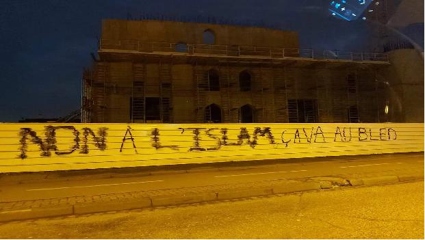 STRASBOURG: UNE MOSQUÉE TURQUE TAGUÉE PAR DES ISLAMOPHOBES !