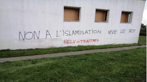 RENNES: UN CENTRE CULTUREL MUSULMAN TAGGÉ PAR DES ISLAMOPHOBES !